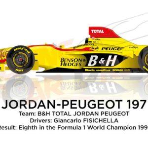 Image Jordan - Peugeot 197 n.12 eighth in the Formula 1 World Champion 1997