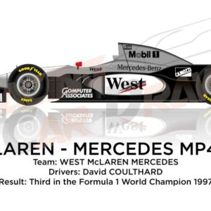 Image McLaren - Mercedes Benz MP4/12 n.10 third in the Formula 1 World Champion 1997