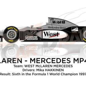 Image McLaren - Mercedes Benz MP4/12 n.9 sixth in the Formula 1 World Champion 1997