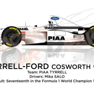 Image Tyrrell - Ford Cosworth 025 n.19 seventeenth in the Formula 1 World Champion 1997