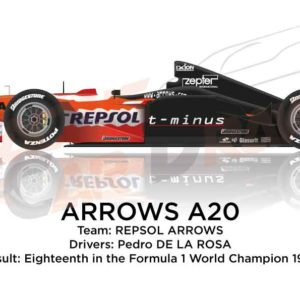 Arrows A20 n.14 eighteenth in the Formula 1 World Champion 1999