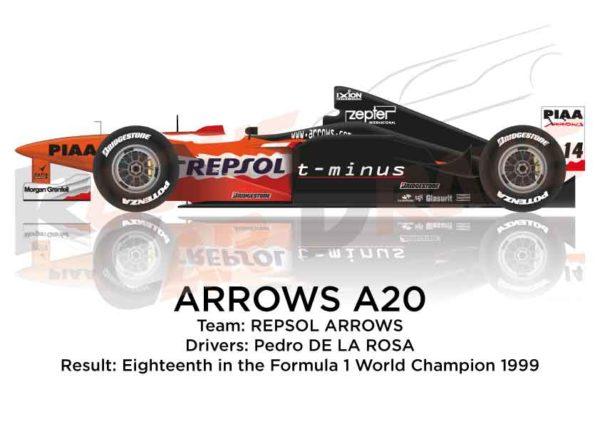 Arrows A20 n.14 eighteenth in the Formula 1 World Champion 1999