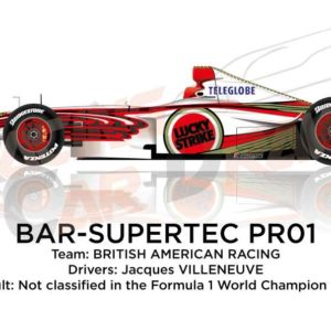 BAR - Supertec PR01 n.22 not classified in the Formula 1 World Champion 1999