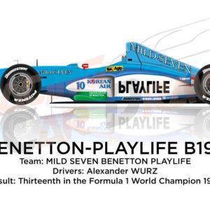 Benetton - Playlife B199 n.10 thirteenth in the Formula 1 World Champion 1999