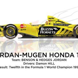 Jordan - Mugen Honda 199 n.7 twelfth in the Formula 1 World Champion 1999