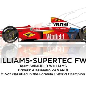 Williams - Supertec FW21 n.5 not classified in the Formula 1 World Champion 1999