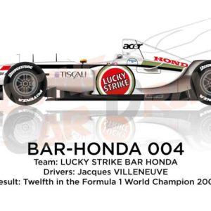 BAR - Honda 004 n.11 twelfth in the Formula 1 World Champion 2002