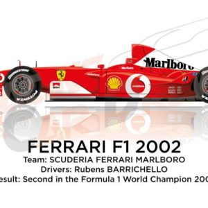 Ferrari F1 F2002 n.2 second in the Formula 1 World Champion 2002