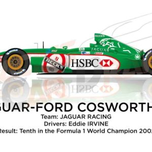 Jaguar - Ford Cosworth R3 n.16 tenth in the Formula 1 World Champion 2002