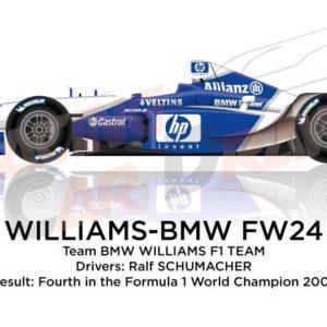 Williams - BMW FW24 n.5 fourth in the Formula 1 World Champion 2002