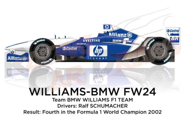 Williams - BMW FW24 n.5 fourth in the Formula 1 World Champion 2002