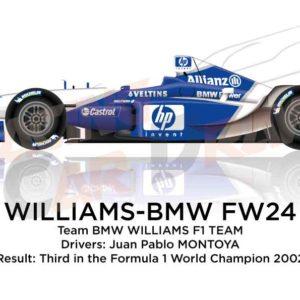 Williams - BMW FW24 n.6 third in the Formula 1 World Champion 2002