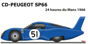 CD - Peugeot SP66 n.51 did not finish 24 Hours of Le Mans 1966