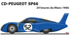 CD - Peugeot SP66 n.52 did not finish 24 Hours of Le Mans 1966