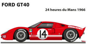 Ford GT40 n.14 did not finish 24 Hours of Le Mans 1966