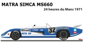 Matra Simca MS660 n.32 did not finish 24 Hours of Le Mans 1971