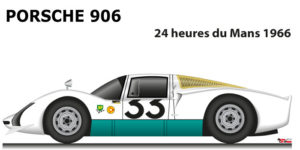 Porsche 906 n.33 did not finish 24 Hours of Le Mans 1966
