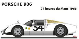 Porsche 906 n.34 did not finish 24 Hours of Le Mans 1966