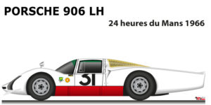 Porsche 906 LH n.31 fifth in the 24 Hours of Le Mans 1966
