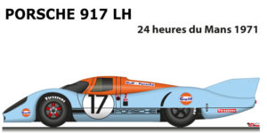 Porsche 917 LH n.17 did not finish 24 Hours of Le Mans 1971