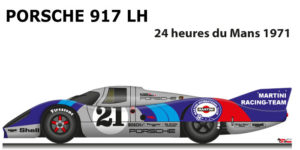 Porsche 917 LH n.21 did not finish 24 Hours of Le Mans 1971