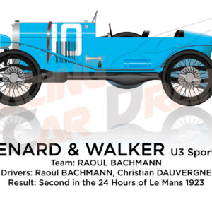 Chenard Walcker Sport n.10 second in the 24 Hours of Le Mans 1923