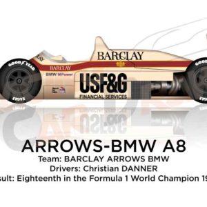 Arrows - BMW A8 n.17 eighteenth in the Formula 1 World Champion 1986