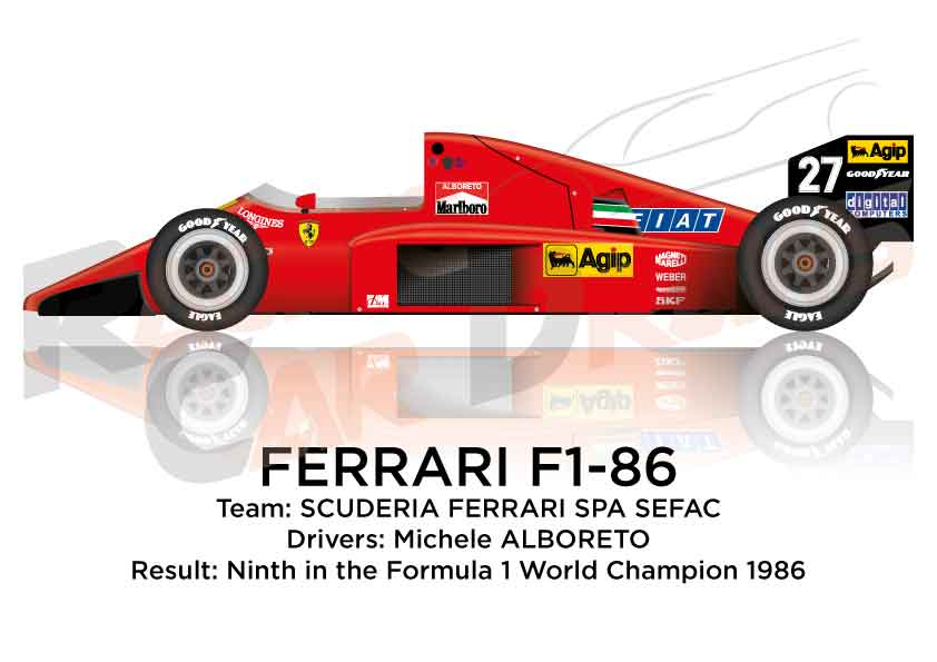 Ferrari F1 86 N 27 Ninth In The Formula 1 World Champion 1986