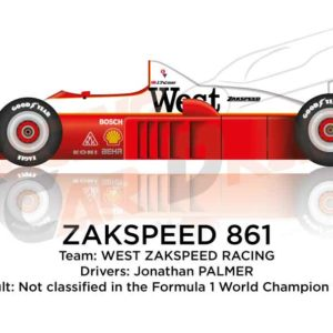 Zakspeed 861 n.14 is not classified in the Formula 1 World Champion 1986