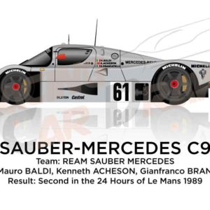Sauber - Mercedes-Benz C9 n.61 second in the 24 Hours of Le Mans 1989