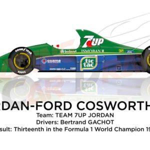 Jordan - Ford Cosworth 191 n.32 thirteenth in the Formula 1 World Champion 1991