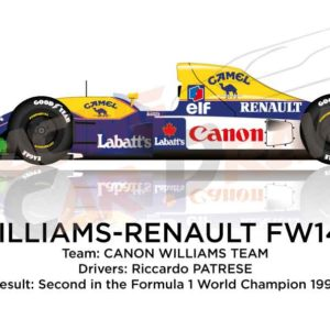 Williams - Renault FW14B n.6 second in Formula 1 World Champion 1992