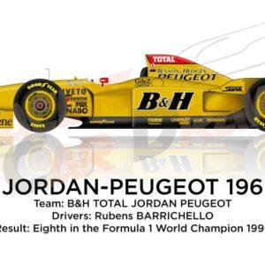 Jordan - Peugeot 196 n.11 eighth in the Formula 1 World Champion 1996