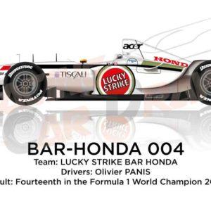 BAR - Honda 004 n.12 fourteenth in the Formula 1 World Champion 2002