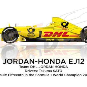 Jordan - Honda EJ12 n.10 fifteenth in the Formula 1 World Champion 2002