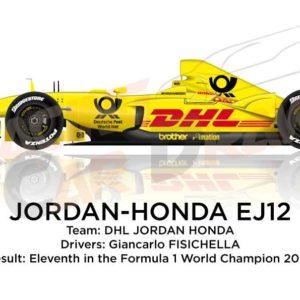 Jordan - Honda EJ12 n.9 eleventh in the Formula 1 World Champion 2002