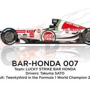Bar - Honda 007 n.4 twentythird in the Formula 1 World Champion 2005
