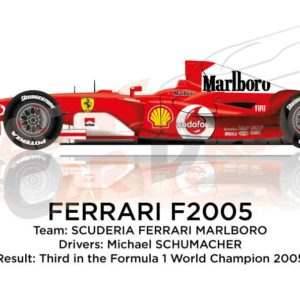 Ferrari F2005 n.1 third in the Formula 1 World Champion 2005