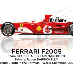 Ferrari F2005 n.2 eighth in the Formula 1 World Champion 2005