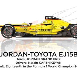 Jordan - Toyota EJ15B n.19 eighteenth in the Formula 1 World Champion 2005