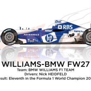 Williams - BMW FW27 n.8 eleventh in the Formula 1 World Champion 2005