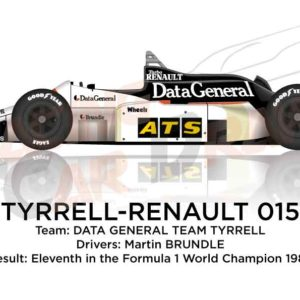 Tyrrell - Renault 015 n.3 eleventh in the Formula 1 World Champion 1986