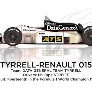 Tyrrell - Renault 015 n.4 fourteenth in the Formula 1 World Champion 1986