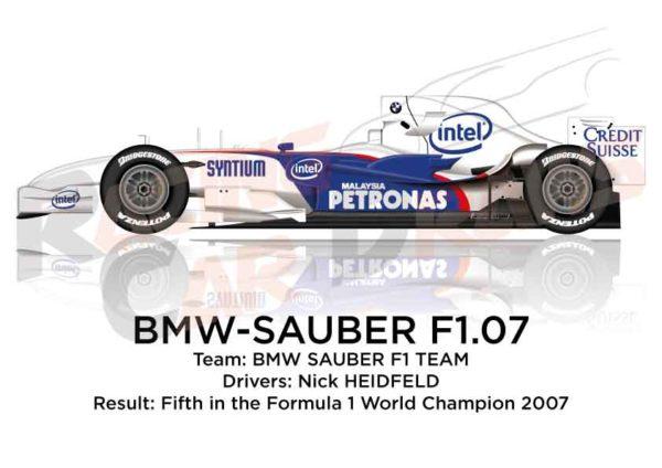 BMW - Sauber F1.07 n.9 fifth in the Formula 1 World Champion 2007