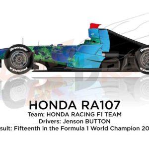 Honda RA107 n.7 fifteenth in the Formula 1 World Champion 2007