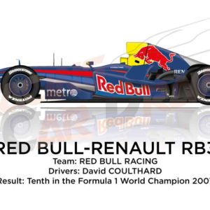 Red Bull - Renault RB3 n.14 tenth in the Formula 1 World Champion 2007