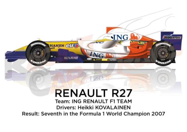 Renault R27 n.4 seventh in the Formula 1 World Champion 2007