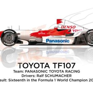 Toyota TF107 n.11 sixteenth in the Formula 1 World Champion 2007