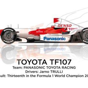Toyota TF107 n.12 thirteenth in the Formula 1 World Champion 2007