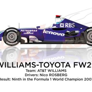 Williams - Toyota FW29 n.16 ninth in the Formula 1 World Champion 2007